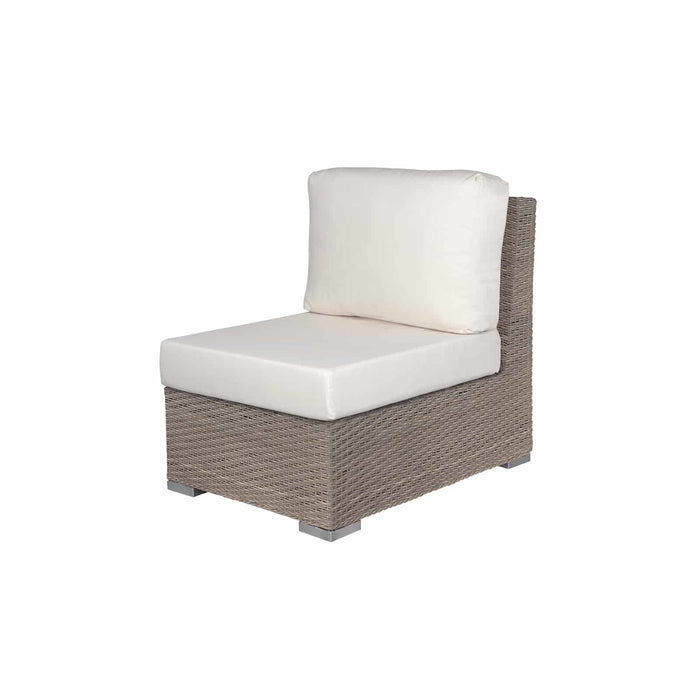 La Jolla Armless Chair - California Sand w/ Std Cushion
