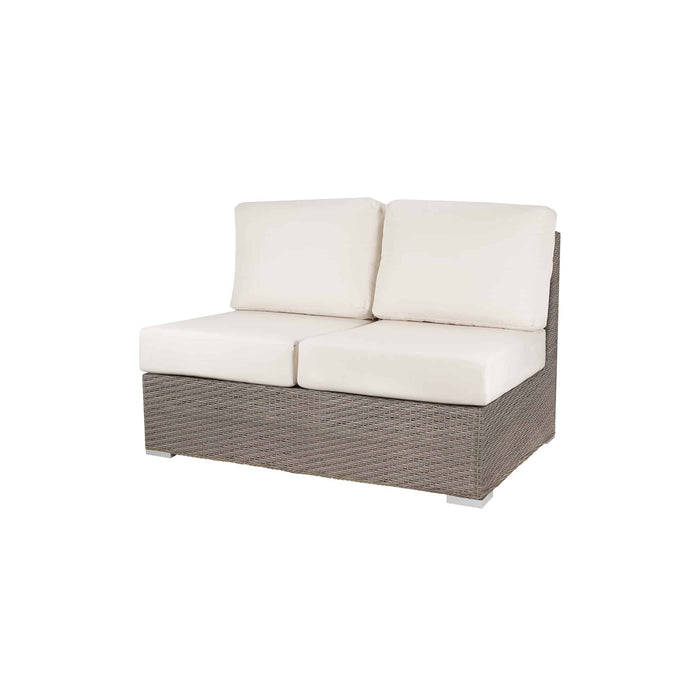 La Jolla Armless Loveseat - California Sand w/ Sunbrella Cushion