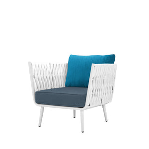 Aegean Club Chair - White | Your Patio Store