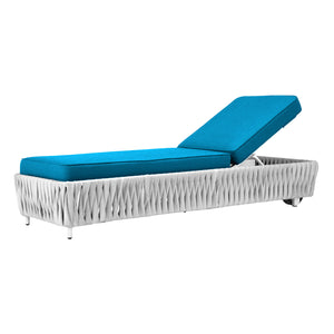 Aegean Armless Chaise - White | Your Patio Store