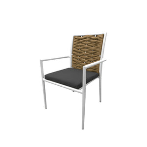 Aegean Dining Arm Chair: Style 2 - Camel | Your Patio Store