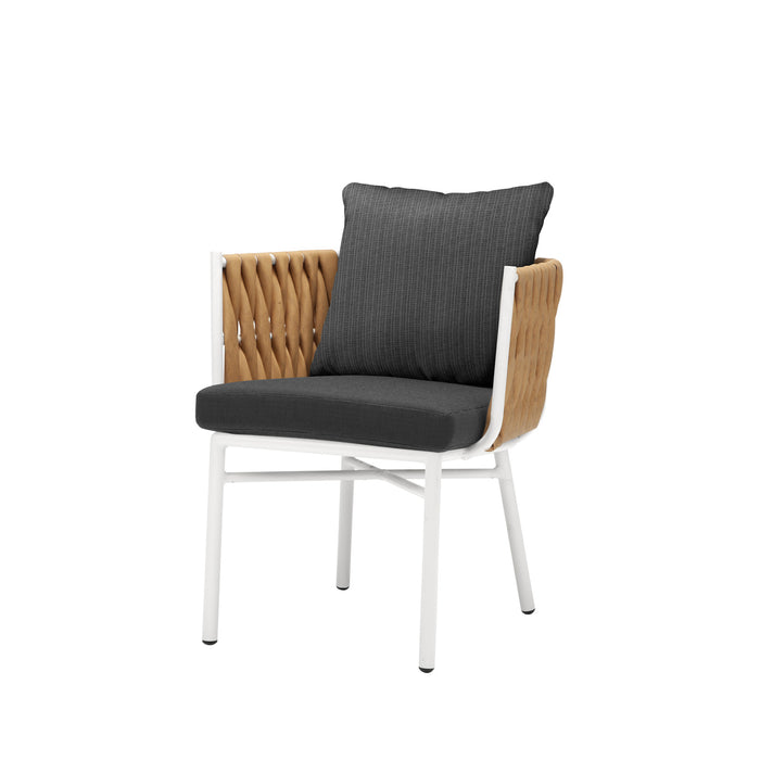 Aegean Dining Arm Chair - Camel