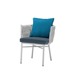 Aegean Dining Arm Chair - White | Your Patio Store