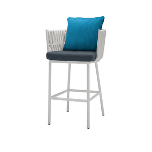 Aegean Bar Arm Chair - White | Your Patio Store