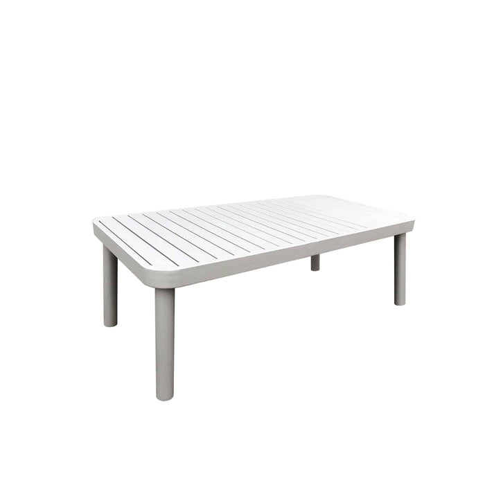 Laguna Coffee Table (Pewter Powder Coated)