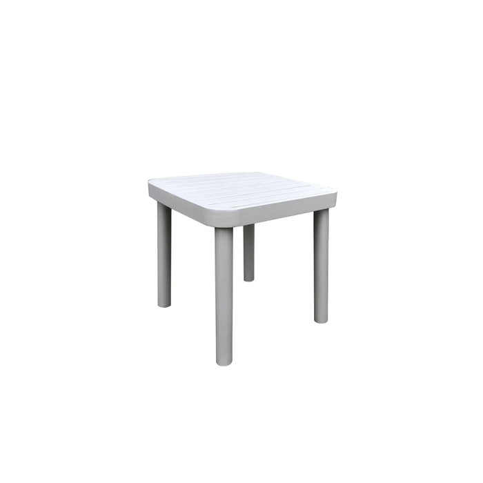 Laguna End Table (Silver Powder Coated)