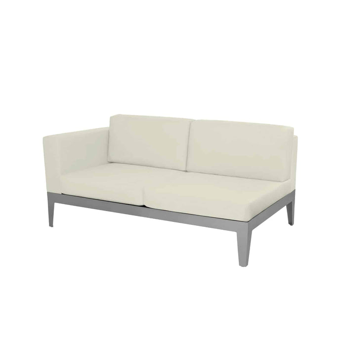 SoHo Left Arm Loveseat - Kessler Silver