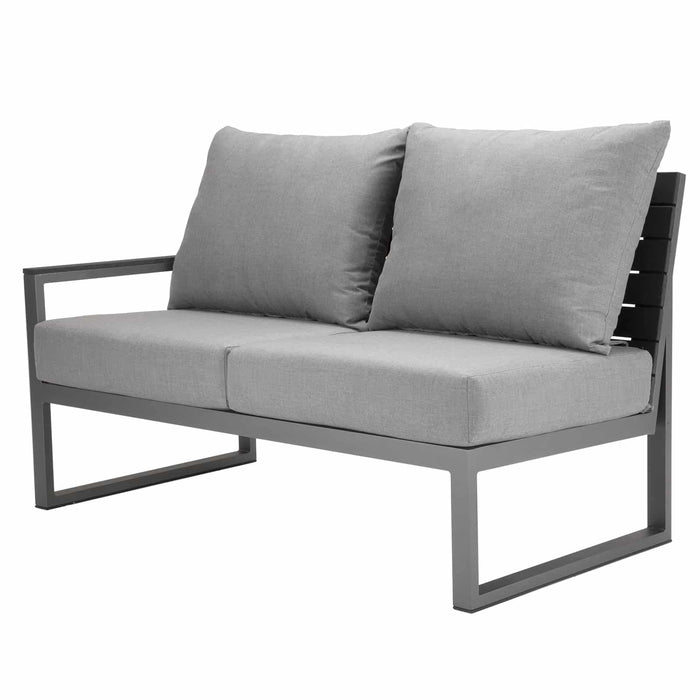 Mirabella Sectional Left Arm Loveseat - Kessler Silver