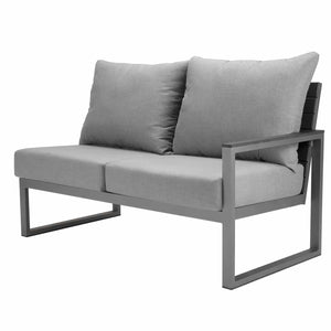 Mirabella Sectional Right Arm Loveseat - Kessler Silver