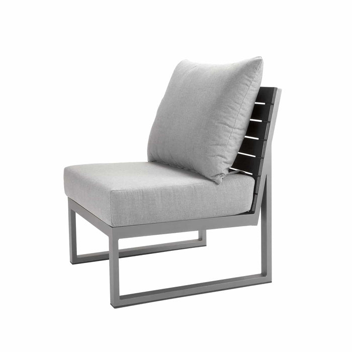 Mirabella Armless Chair -  Silver Vein