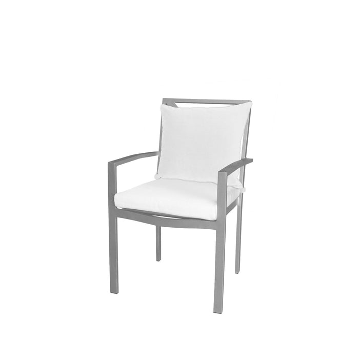 Destin Dining Arm Chair - Kessler Silver