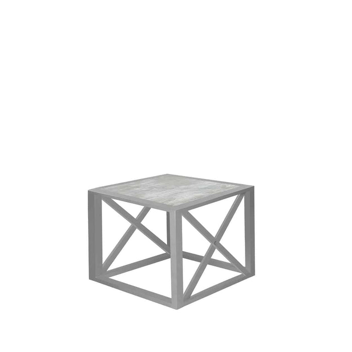 Destin End Table - Silver Vein