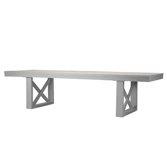 Destin Mega Dining Table - Kessler Silver