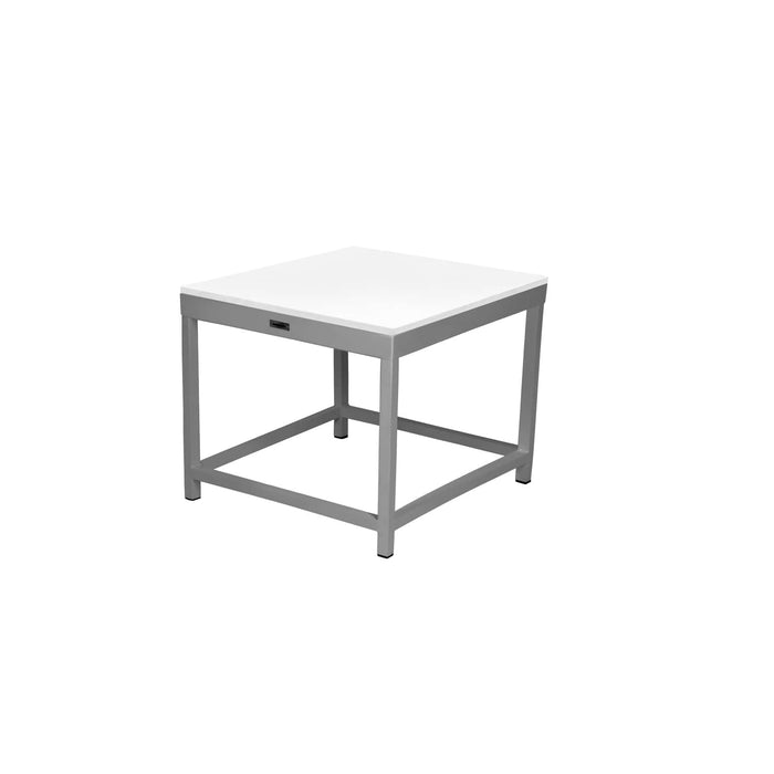 Dakota End Table Square with Duraboard Top - Kessler Silver