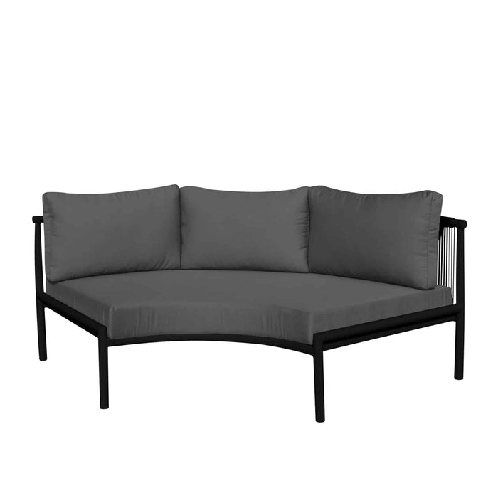 Savanna Armless Sofa (Black Durarope)