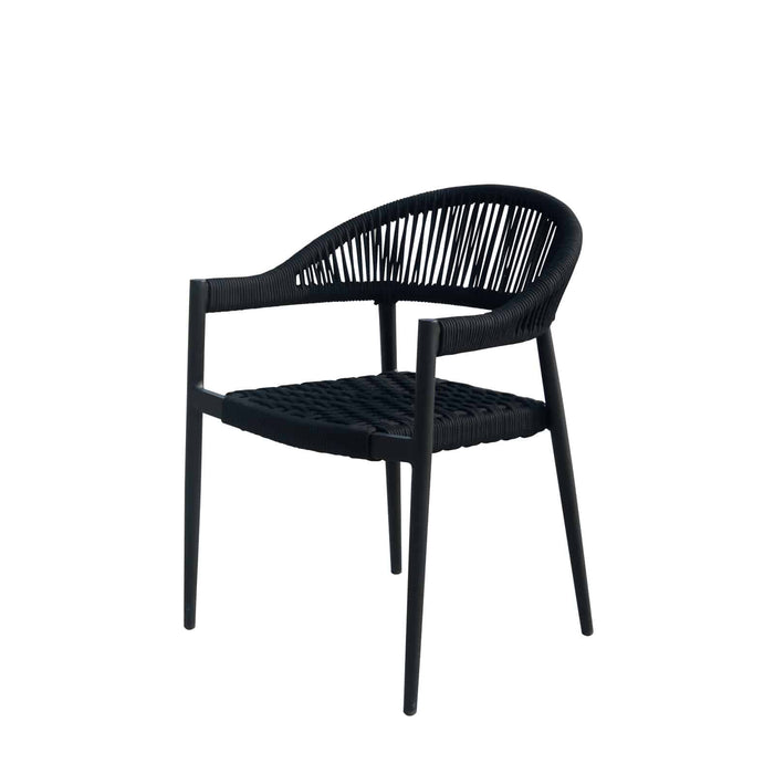 Savanna Dining Arm Chair (Black Durarope)
