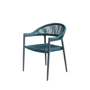 Savanna Dining Arm Chair (Teal Durarope)