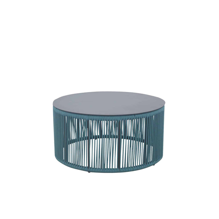 Savanna Small Coffee Table – Round (Teal Durarope)