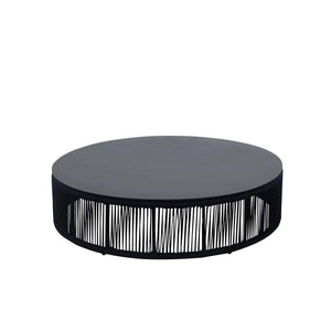 Savanna Coffee Table – Round (Black Durarope)