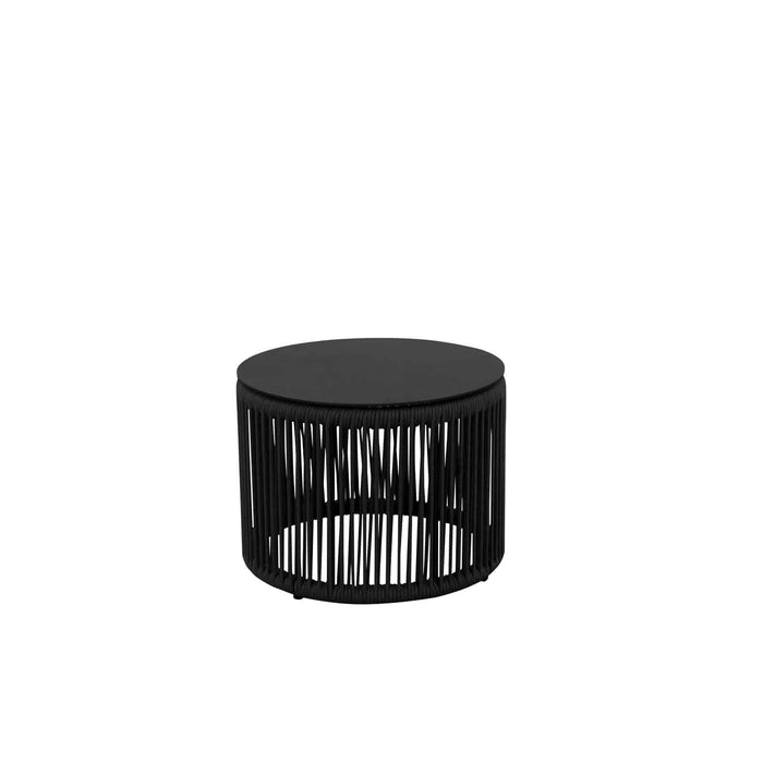 Savanna Side Table – Round (Black Durarope)