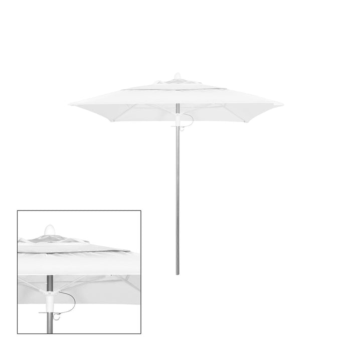 Rain 8′ Square Double Vented Canopy - Kessler Silver