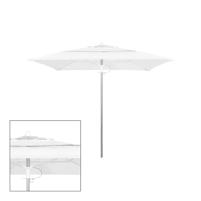 Rain 9′ Square Double Vented Canopy - Kessler Silver