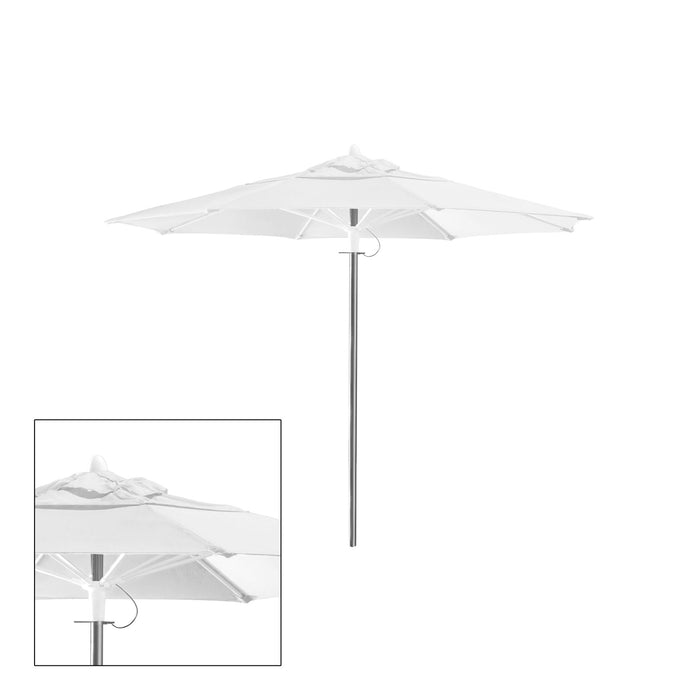 Rain 8′ Round Double Vented Canopy - Kessler Silver