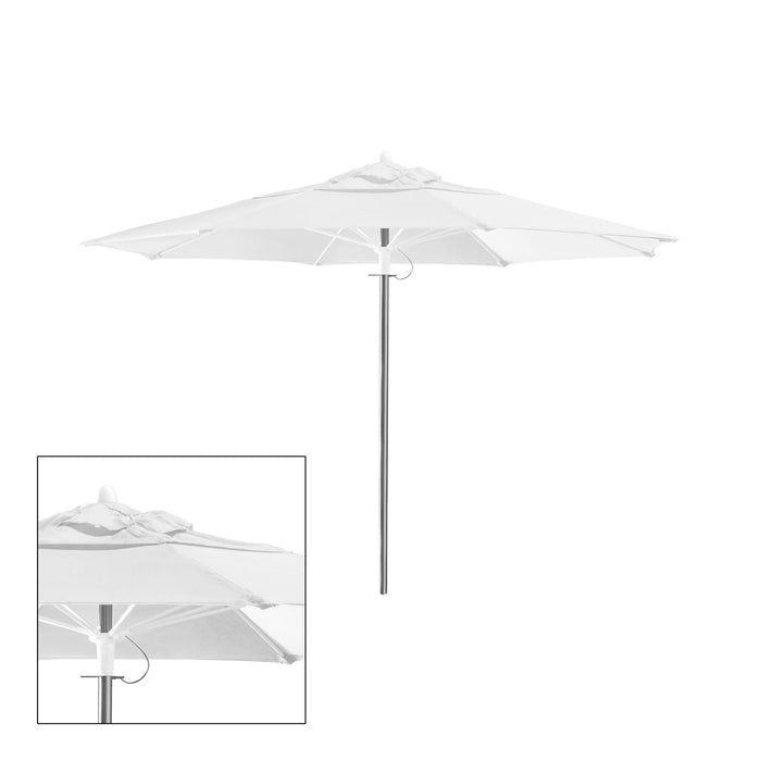 Rain 9′ Round Double Vented Canopy - Kessler Silver