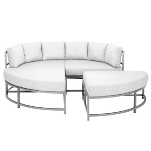 Dakota 4 Piece Daybed - Silver Vein