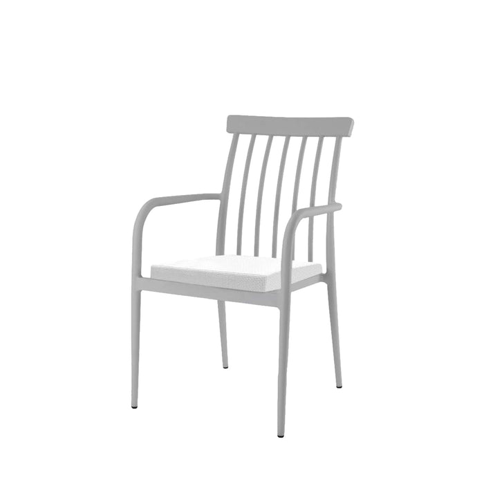 Lantana Dining Arm Chair - Silver Vein