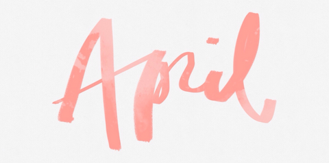 April graphics typography handwriting