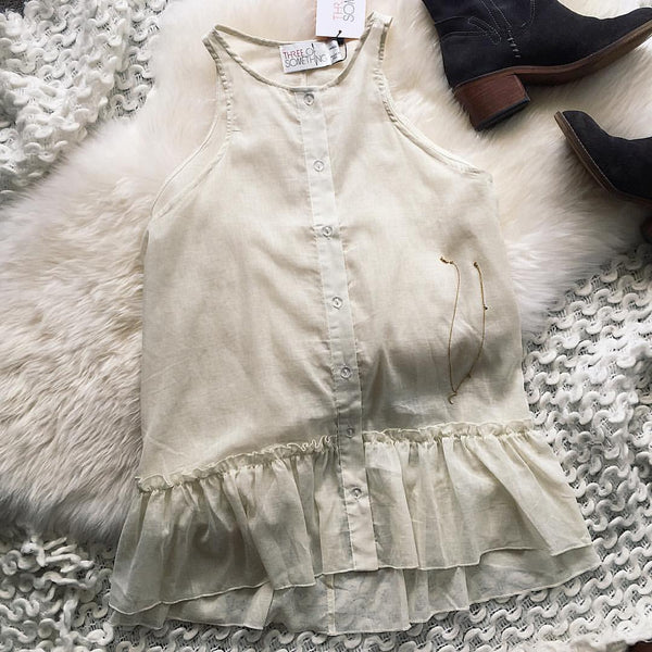 White frill top Ellis and Friends fashion tumblr pinterest