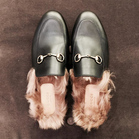 gucci fur slides image