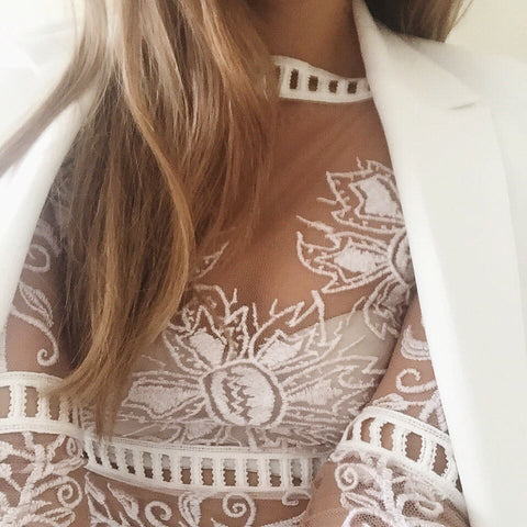 For love and lemons desert night crop top