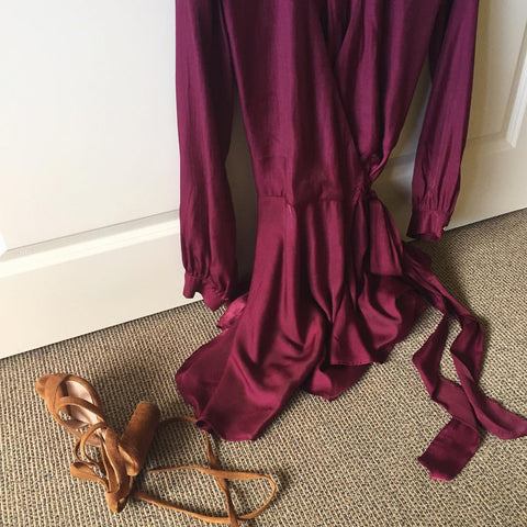 Aura Dress Wine Tony Bianco shoes