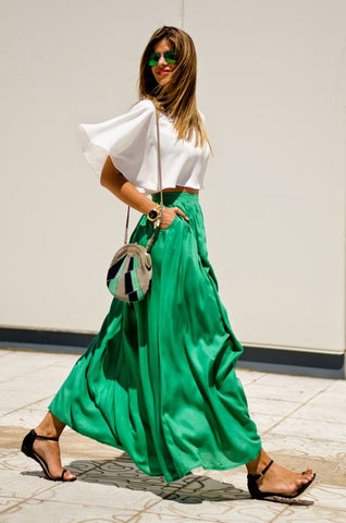Emerald green skirt