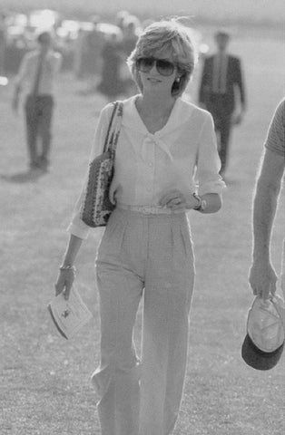 Princess Diana white shirt jeans