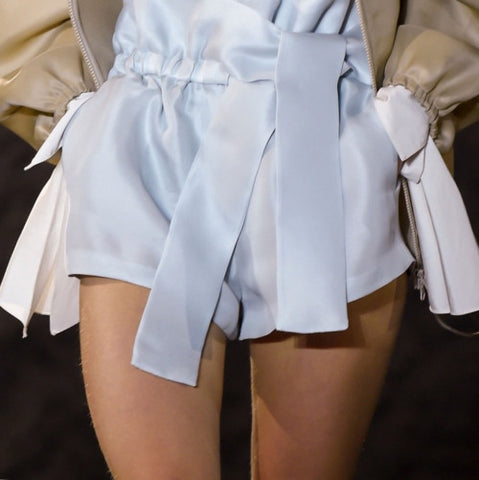 Baby blue silk shorts new zealand online womens designer clothing boutique shop