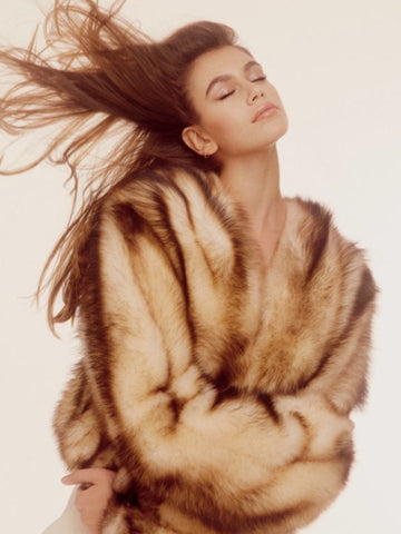 Fur jacket Cindy Crawford