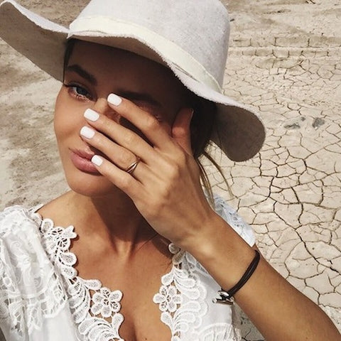 Summer girl whites hat fashion