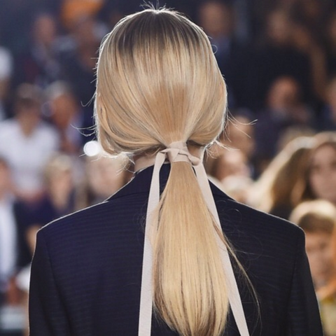 Ponytail hair fashion runway inspiration