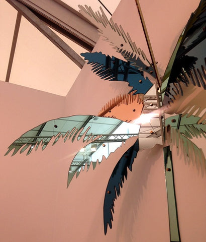 Indoor palm tree sculpture