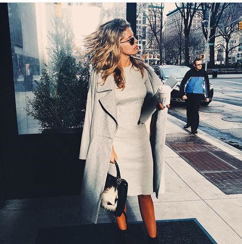 Tash Oakley grey coat