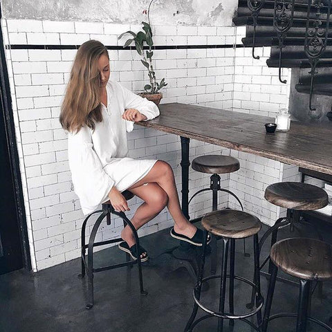 Simple white dress street style online designer fashion womens clothing New Zealand