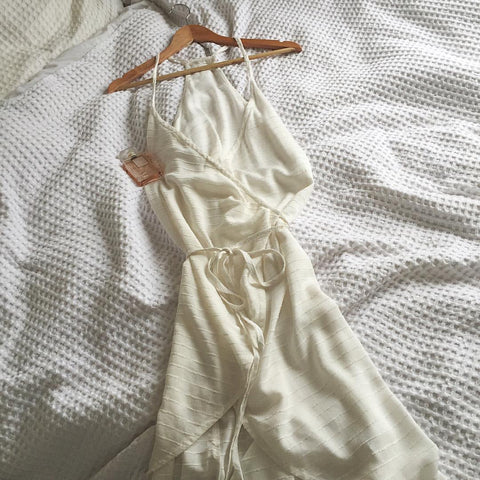 White wrap dress fashion tumblr pinterest summer