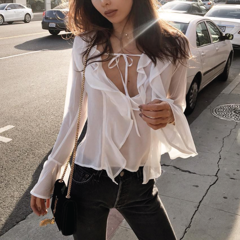 Rumi neely for love and lemons eva blouse ellis and friends