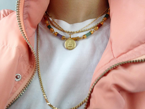 Cute layered necklace trend new zealand fashion blog clothing shop