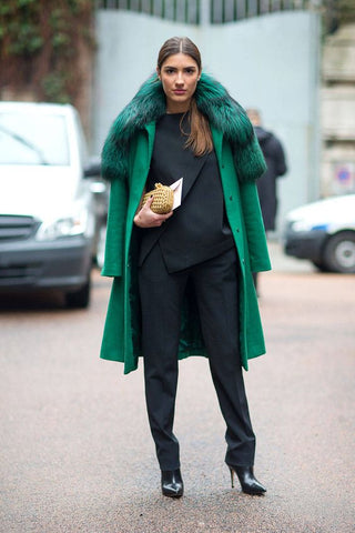 Green Jacket coat fashion street style tumblr pinterest