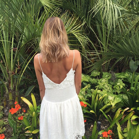 White summer lace dress fashion beauty tumblr