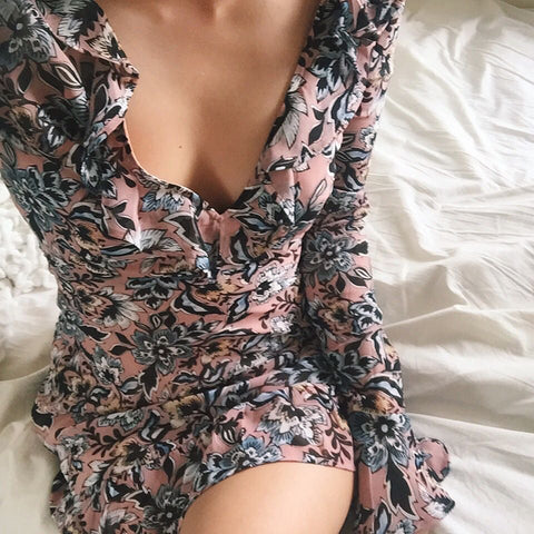 Floral dress on girl - For love and lemons - Ellis and Friends online womens clothing shop